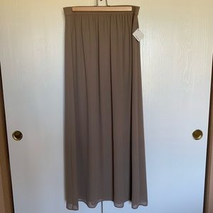 Halogen Maxi Skirt In Taupe Sz XS